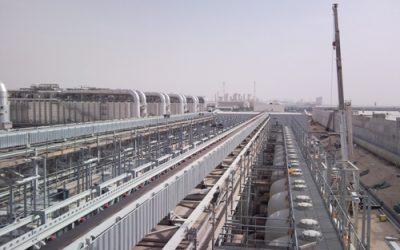 Limestone conveyor belts in desalination plant
